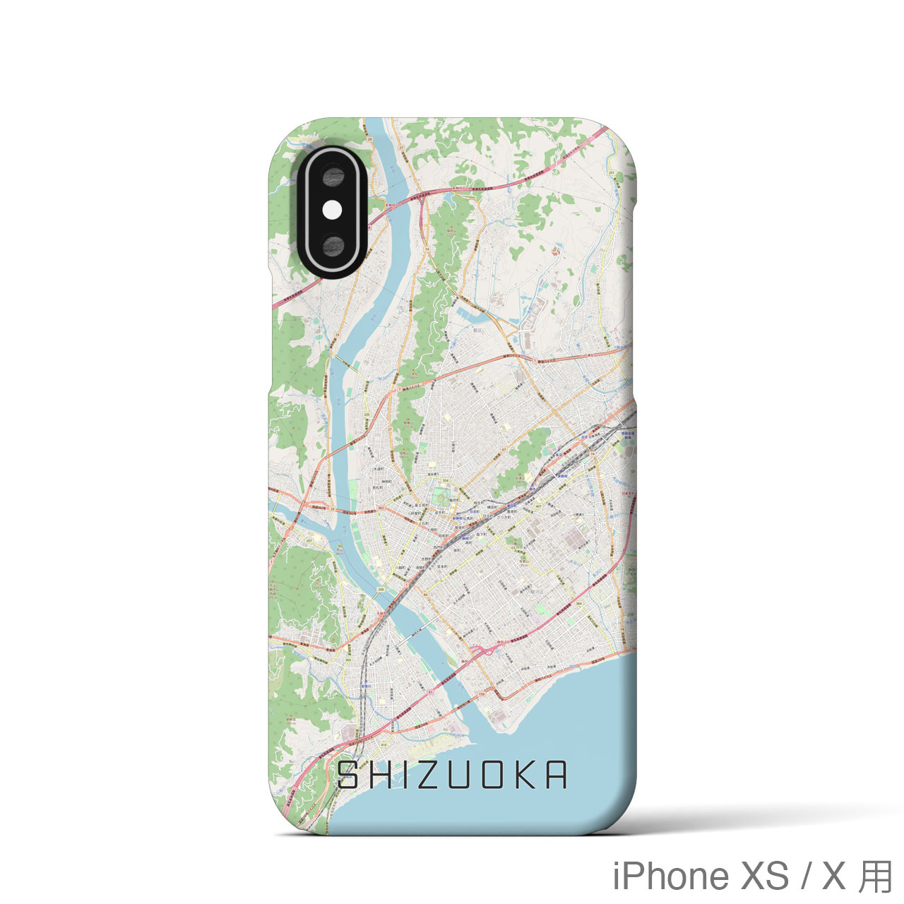 【静岡】地図柄iPhoneケース(バックカバータイプ・ナチュラル)