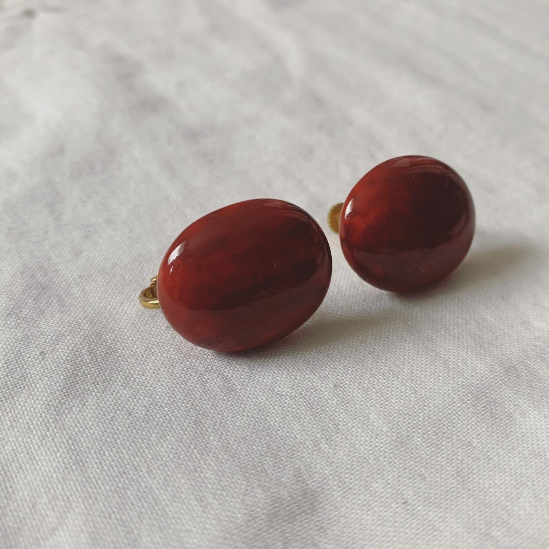 vintage uneven earring