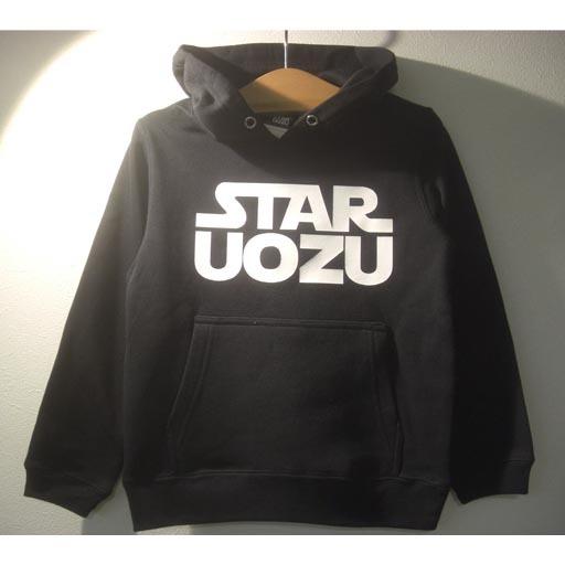 STAR UOZU キッズパーカー ブラック×ホワイト