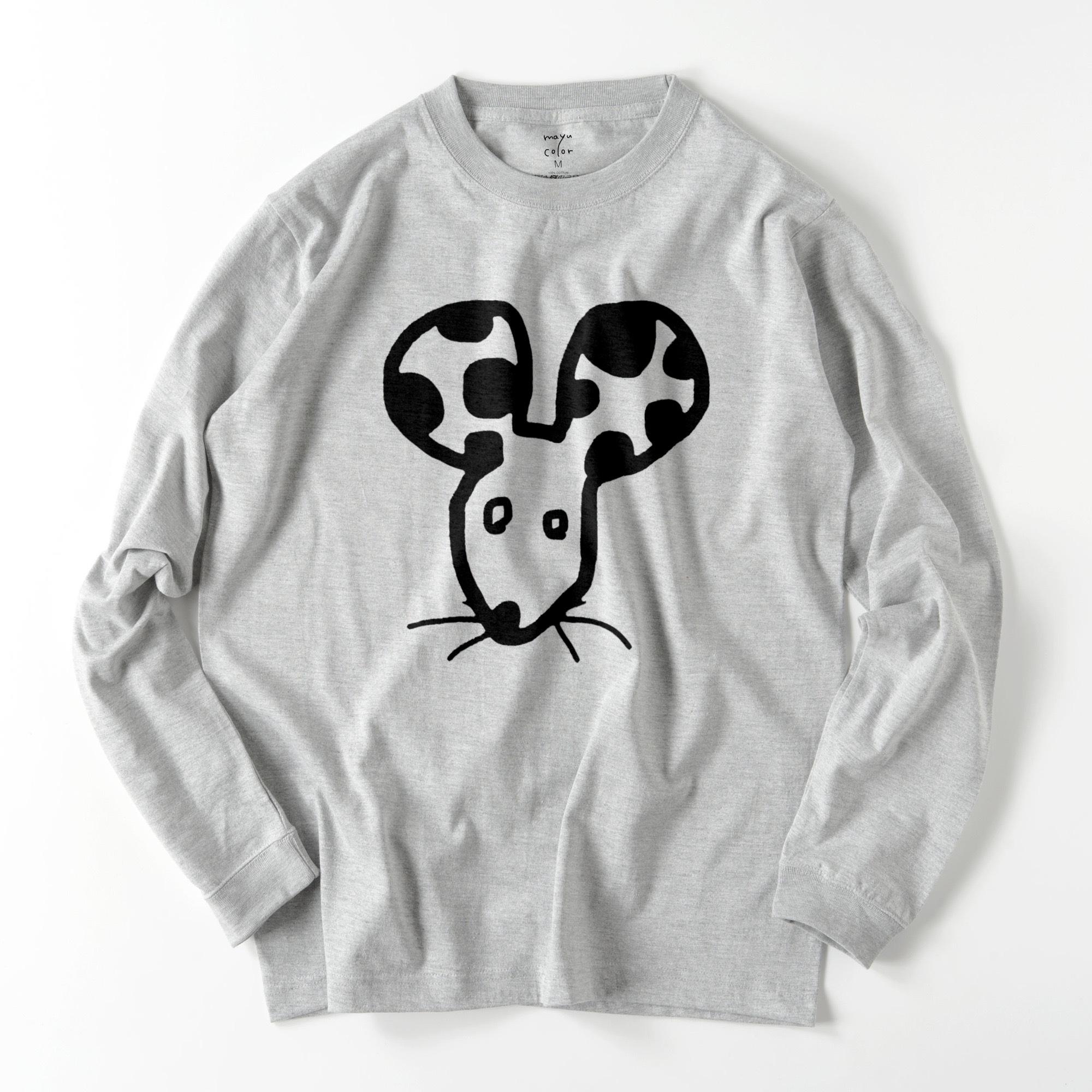 rarat/GRY/モノトーン【シンプルデザインTシャツ】©mayu_color.888