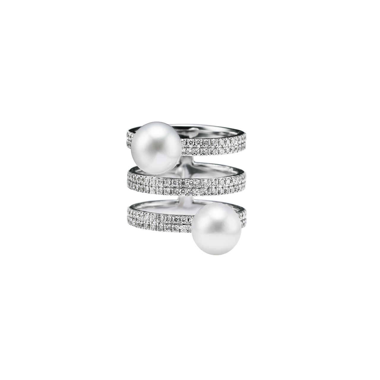 jg <equilibrium> リング K18/ダイヤモンド/あこやパール(動画での紹介商品 2020/8/31までのご注文10%OFF)