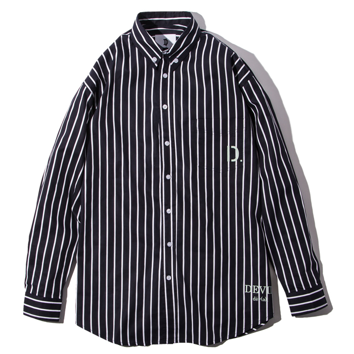 Deviluse(デビルユース) | D. Stripe Shirts(Navy)