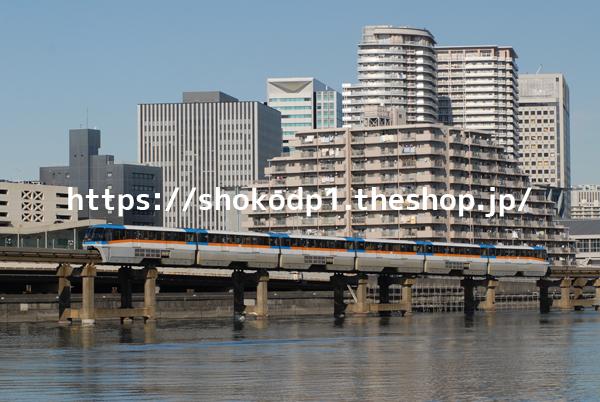 東京モノレール1000形とビルDSC_0118