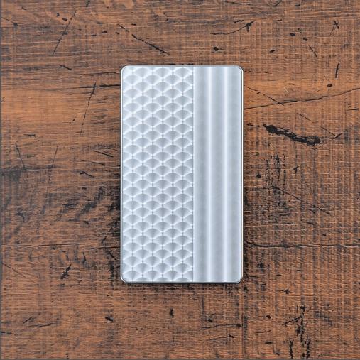 スケイルライン《シルバー》ジュラルミン アルミ 金属 名刺入れ カードケース ギフト 高級