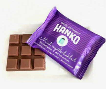 フィンランドハンドメイドチョコレート「ハンコ」ミントミルク50g