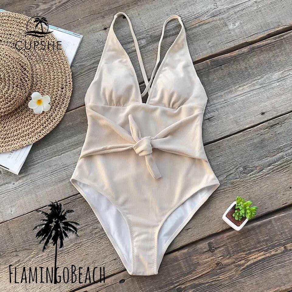【FlamingoBeach】simple ribbon monokini モノキニ