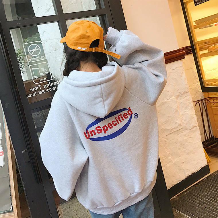 【送料無料】 トレンドのビッグシルエット♡ プルオーバー オーバーサイズ フード付き ロゴ パーカー ユニセックス
