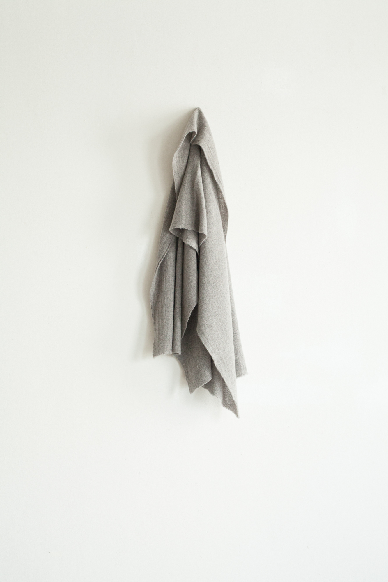 01492-2 cashmere short muffler / gray
