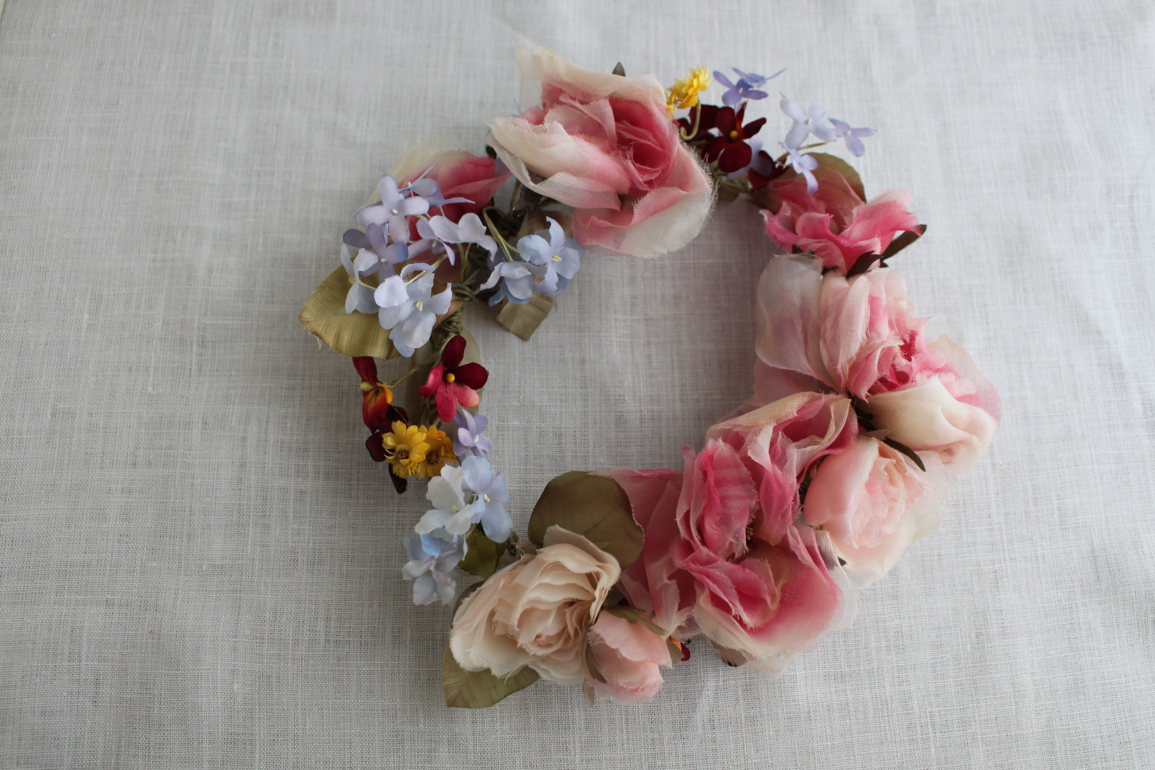 ninon薔薇と小花のリース