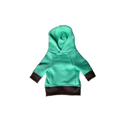sweat parka  mint /choco