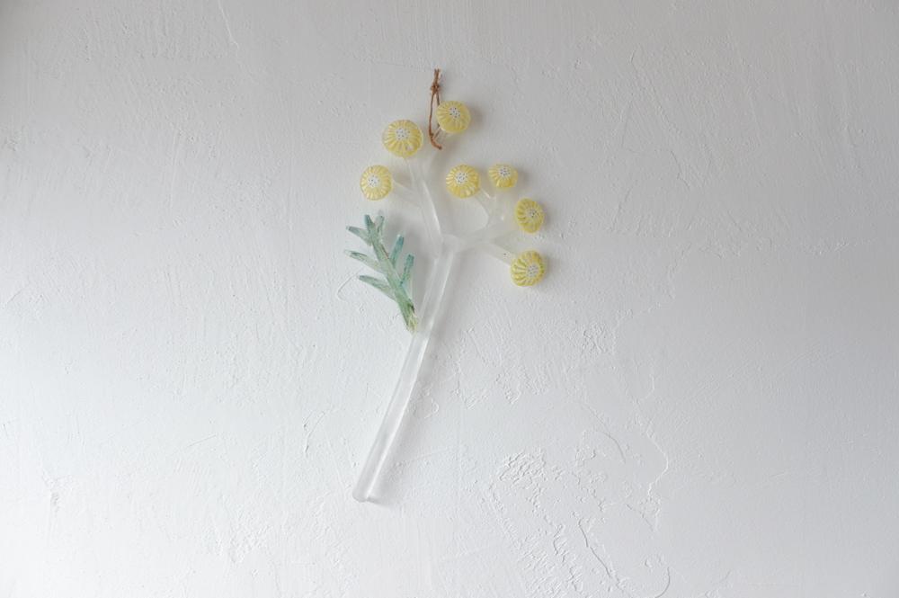 安達知江 ガラスの切り花 【 黄色い花 】