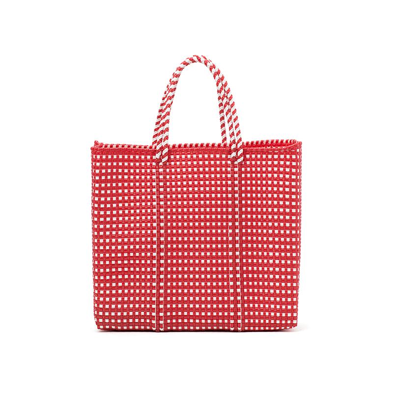 MERCADO BAG MINI CHECK-Red (S)