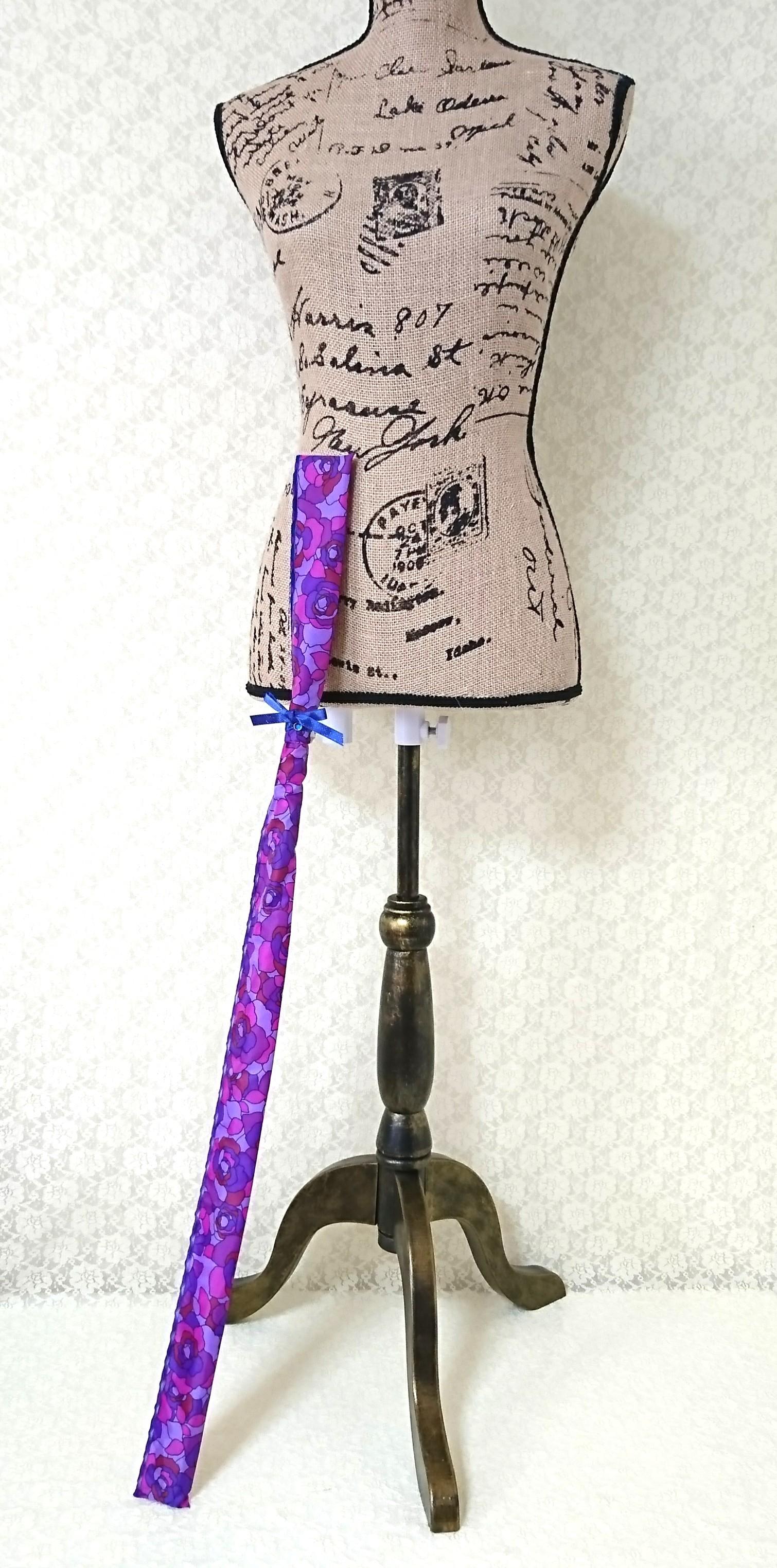 スティック型撥水アサヤケース【紫のバラ × ブルーリボン】★送料無料★