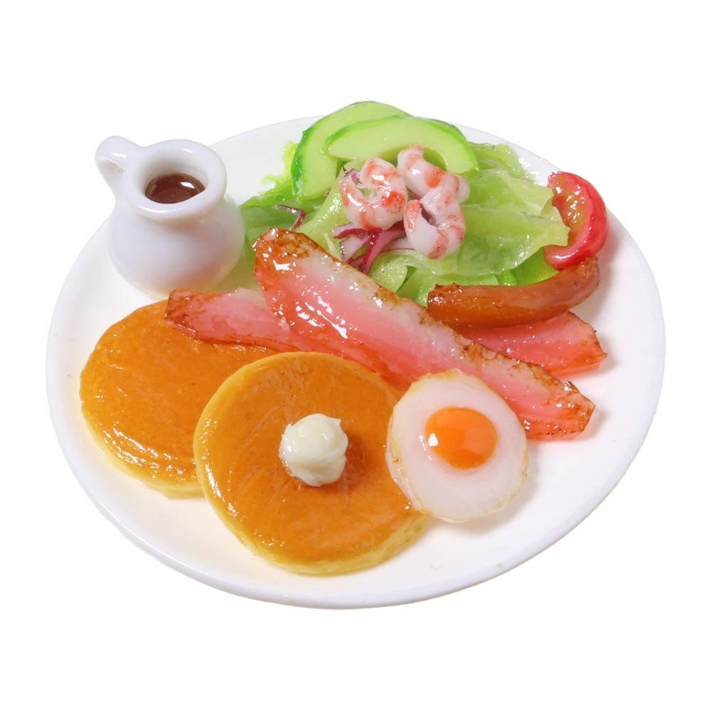 [0548]食品サンプル屋さんのマグネット(パンケーキブランチ)