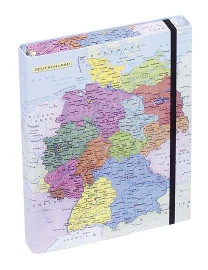 PAGNA/パグナ(ドイツ)  ドイツ地図柄ドキュメントケース