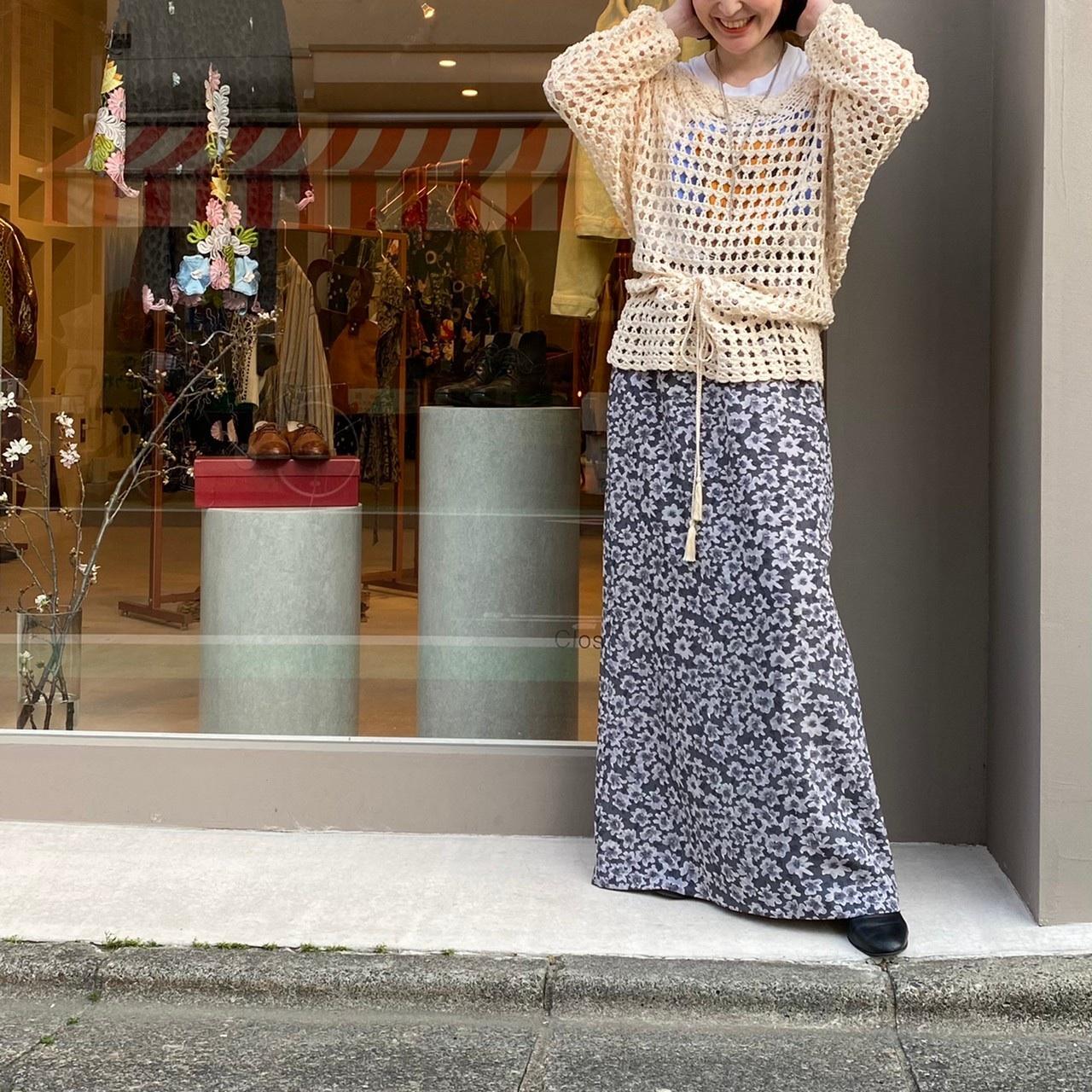 ◼︎90s flower motif crochet knit from U.S.A.◼︎
