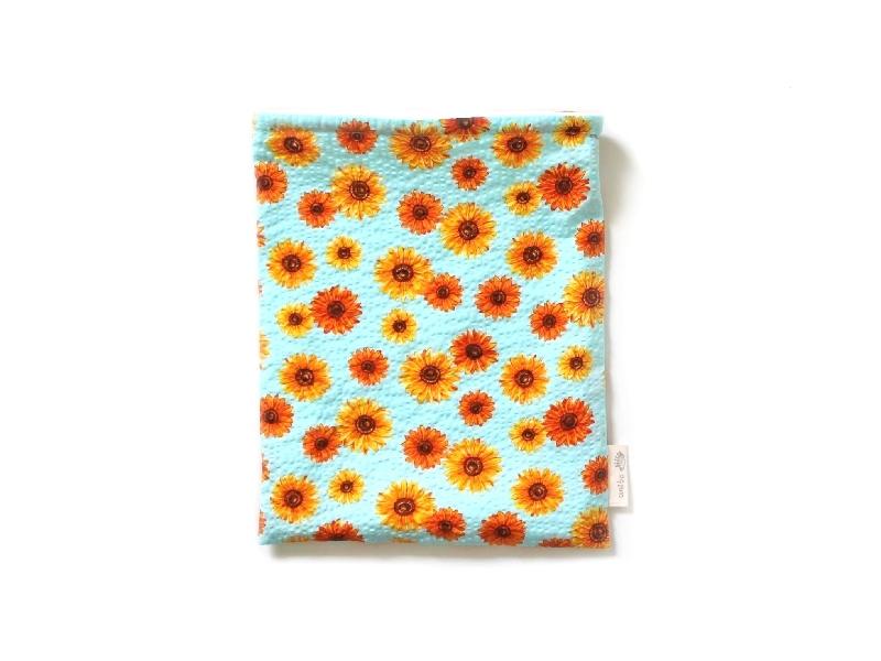 ハリネズミ用寝袋 M(夏用) 綿リップル×スムースニット ヒマワリ