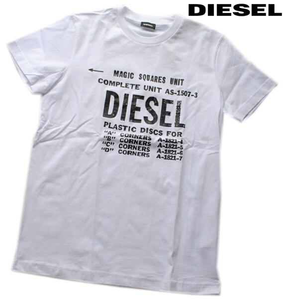 DIESEL ディーゼル Tシャツ 半袖 プリント Tシャツ メンズ T-DIEGO-B6 WHITE
