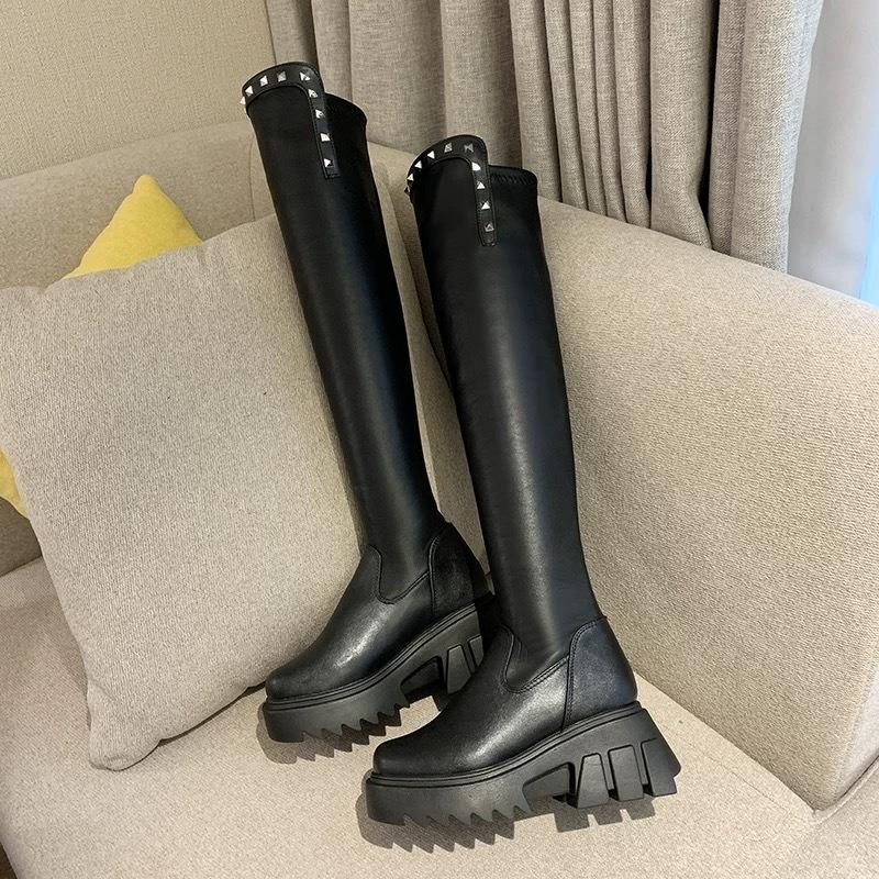 studs design long boots