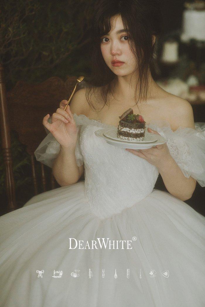 dw_b_21【DearWhite】オーダーメイドウェディングドレス Aライン プリンセス エンパイア デコルテ 結婚式 披露宴 二次会 パーティーウェディングドレス・カラードレス・サイズオーダー格安オーダーメイド