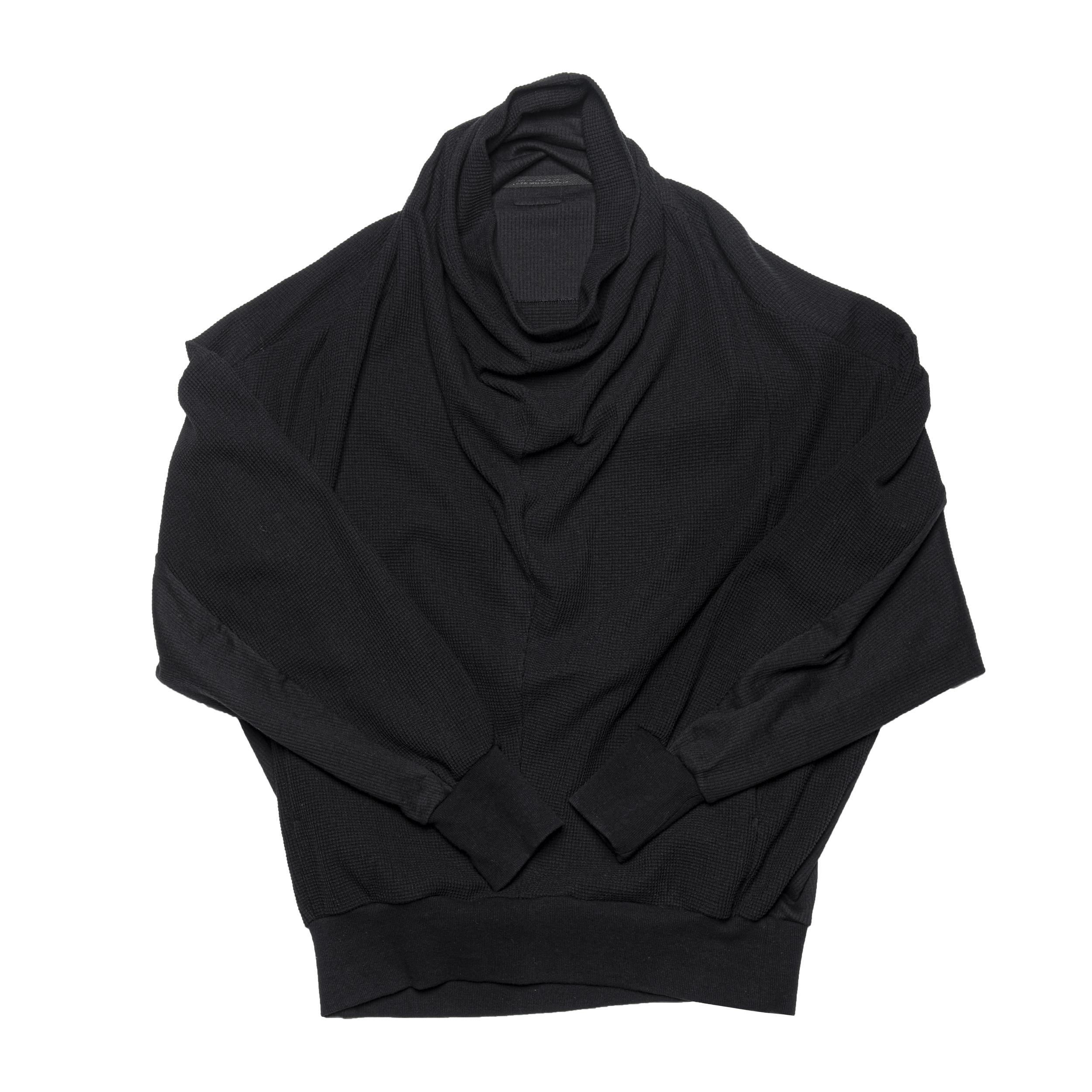 687CUM8-BLACK / 2 FACE カウルネックシャツ