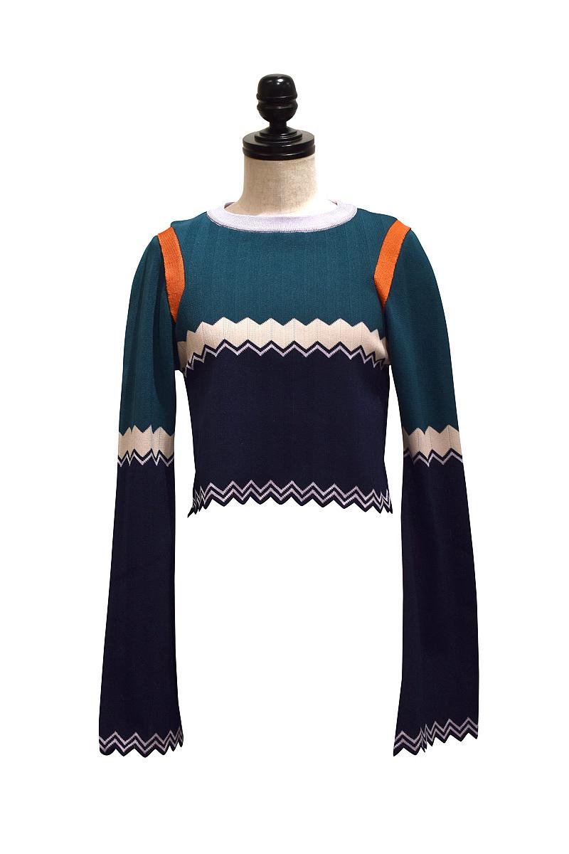 NAIFE™ / Zig-Zag pullover / GREEN