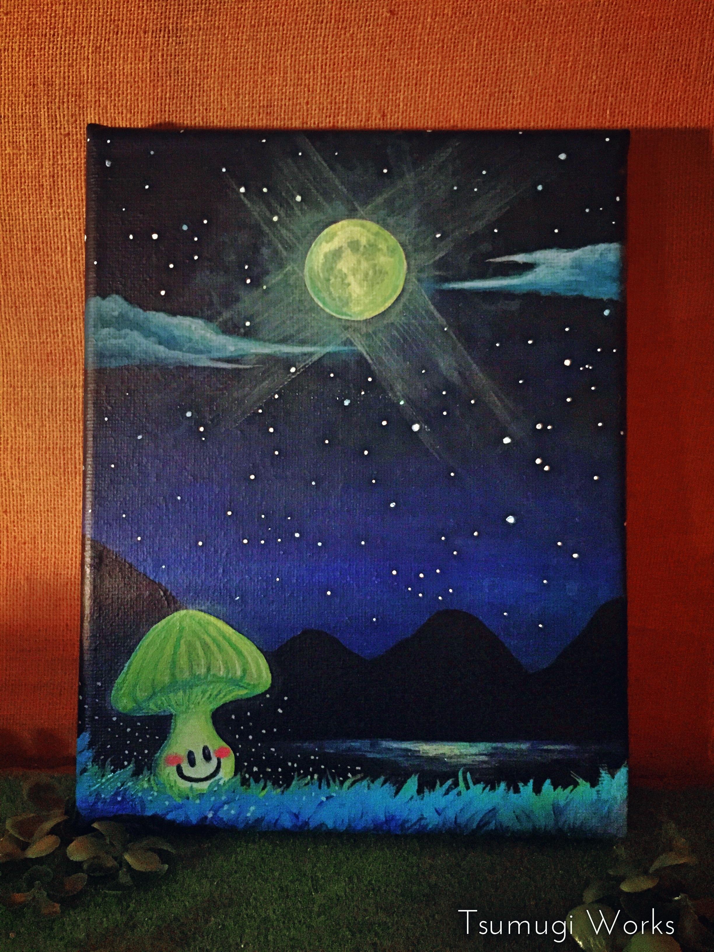満月の夜 【原画(アクリル)】