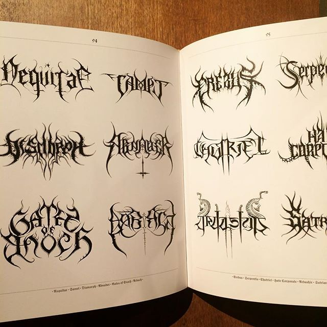 デザインの本「Lord of the Logos/Christophe Szpajdel - 画像3