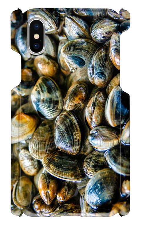 【 iphone X用 】アサリ お魚スマホケース 送料込み