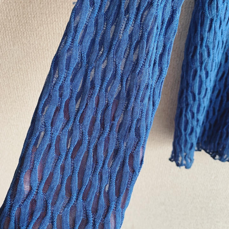 【SALE】vintage blue sheer cardigan