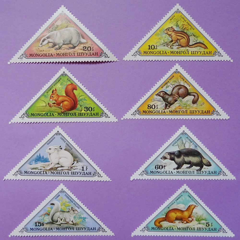チェコ 動物の三角切手
