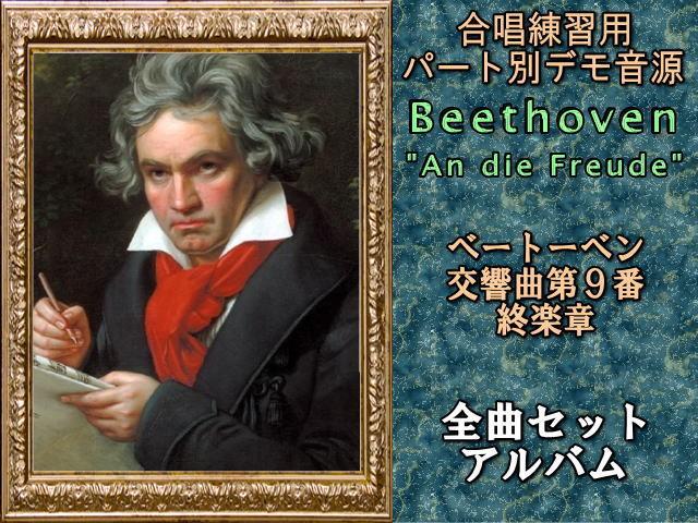 ベートーベン 交響曲第9番 終楽章       3分割全曲セット(テノール2)