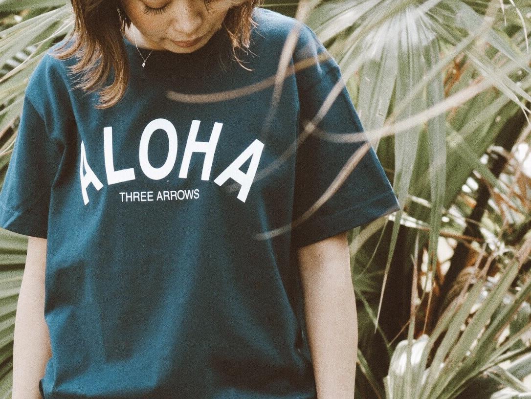ALOHA Tシャツ(navy)
