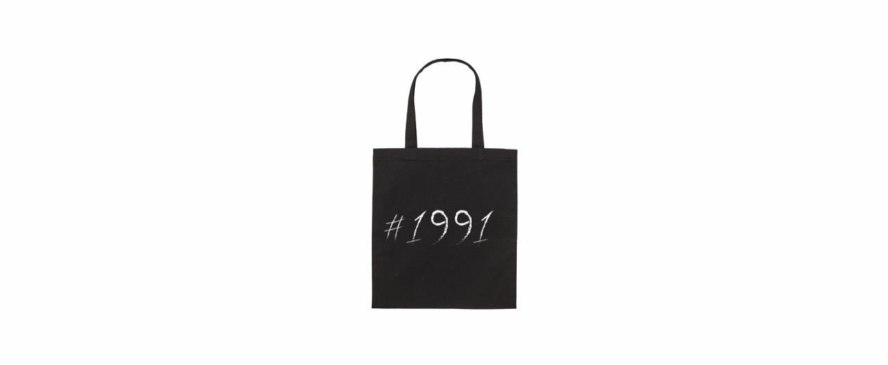 1991 big logo tote bag (BK)