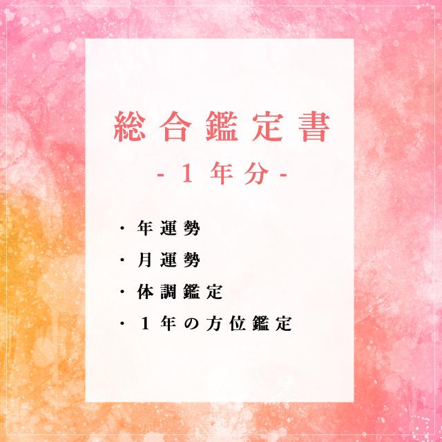 【鑑定書】総合鑑定(1年分の運勢付)