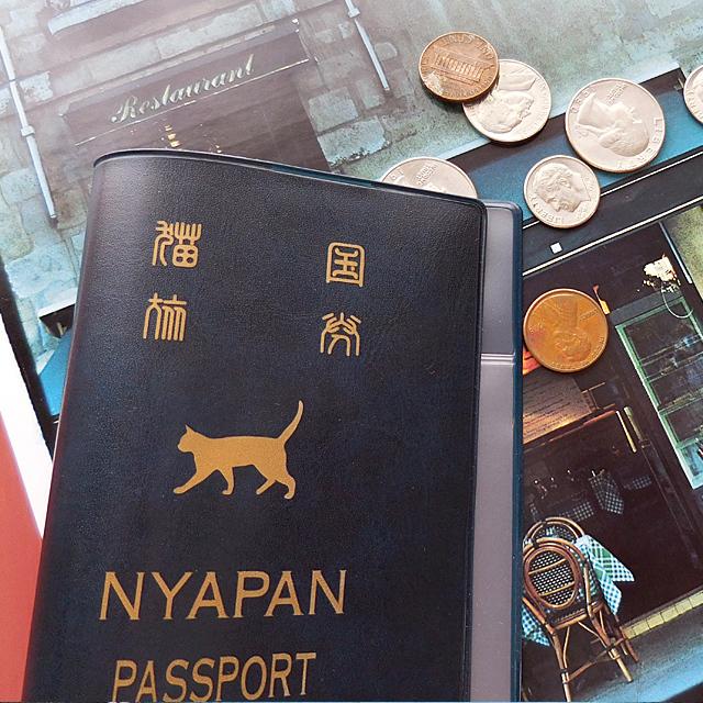 (127) アベイユ ニャパン パスポートカバー 猫国 ケース NYAPAN PASSPORT COVER 【レターパックライト可】