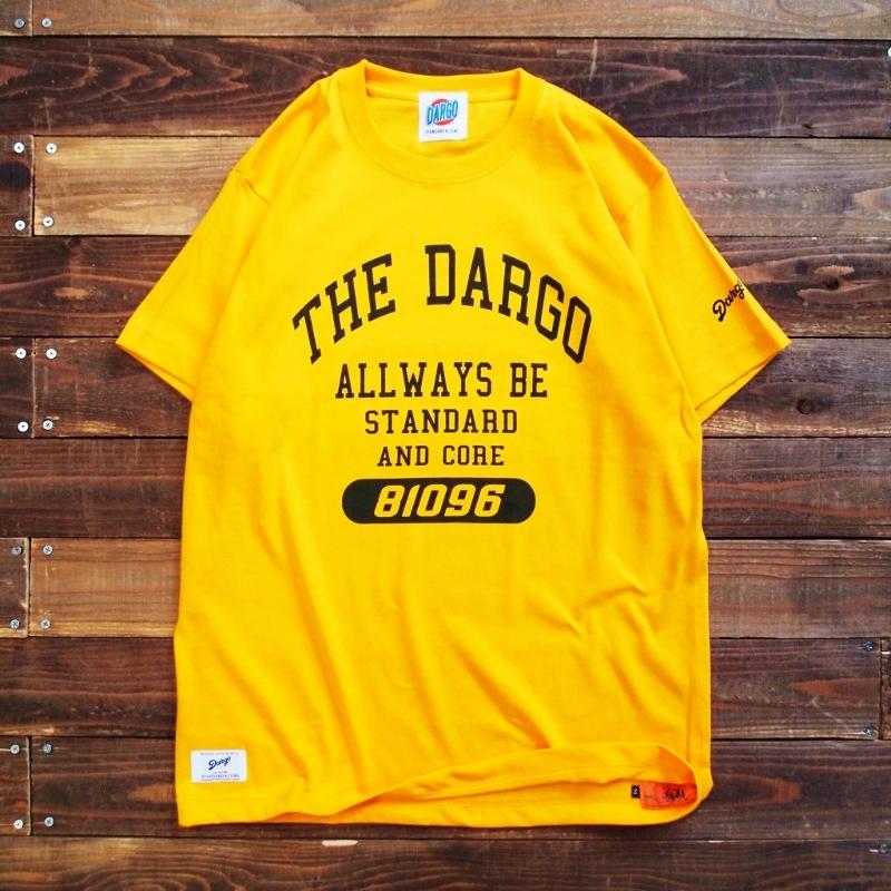 "【DARGO】""College Logo"" T-shirt (GOLD YELLOW)"