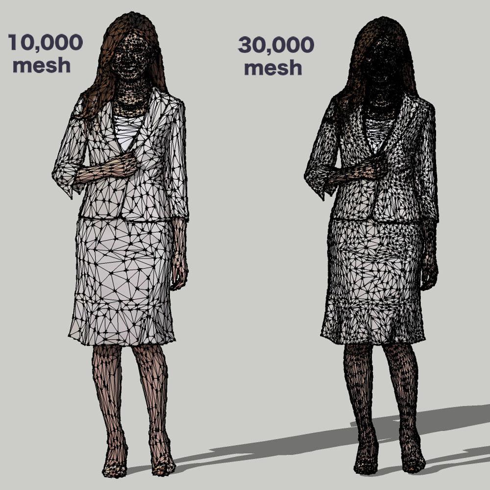 SketchUp素材 3D人物モデル ( Posed ) 055_Mao - 画像3