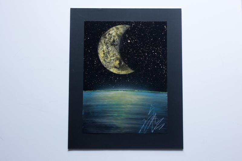 Moon light ocean (額入り特別作品)