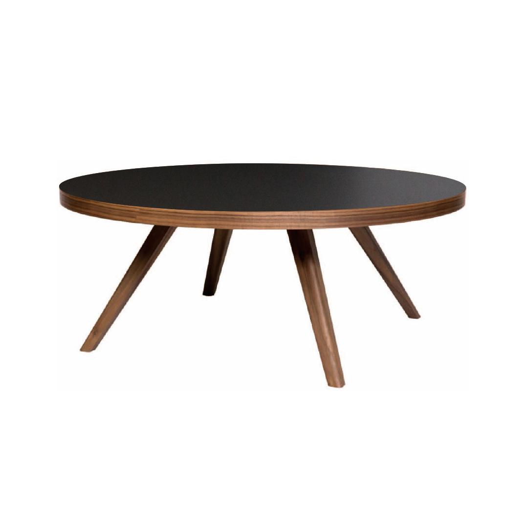 アイシー リビングテーブル ウォールナット 樹脂天板 L-low