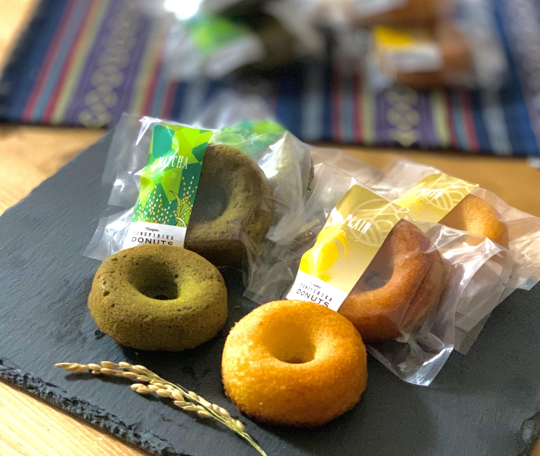ゆめぴりか米粉ドーナツ4味12個セット(プレーン・抹茶・ほうじ茶・チョコ)