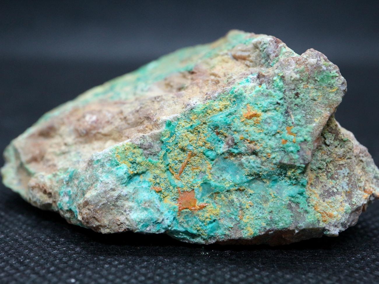 アリゾナ産 モリブデン鉛鉱 + クリソコラ  8,6g WF002 天然石 鉱物 標本 原石 パワーストーン
