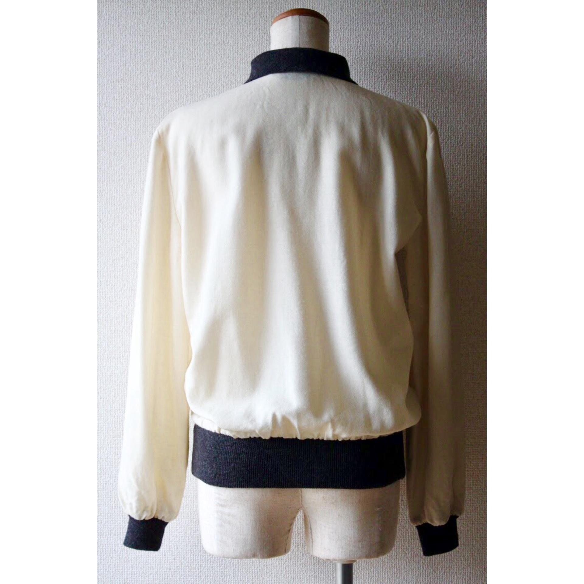 Vintage rib collar shirt by Valentino Garavani