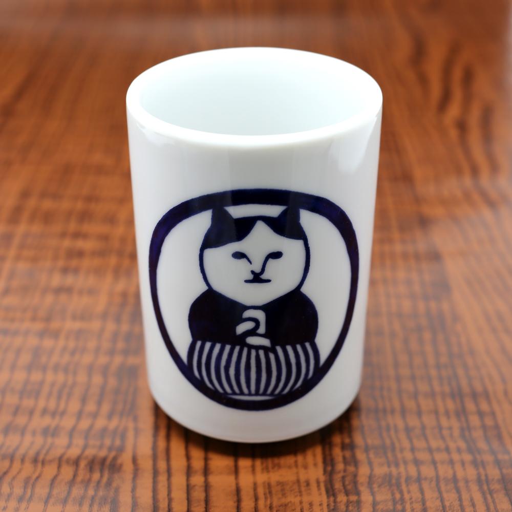猫湯呑み(ねこ茶商茶紋)