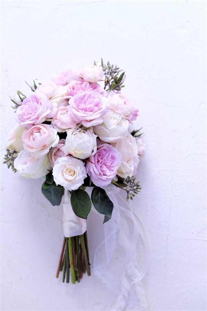 〖 オーダーメイド 〗アーティフィシャルフラワーのウェディングブーケ / 造花のブーケ・Sample Item No,6605362