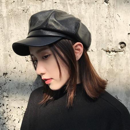 【送料無料】選べる2タイプ♡ キャスケット ブラック 帽子 ハット