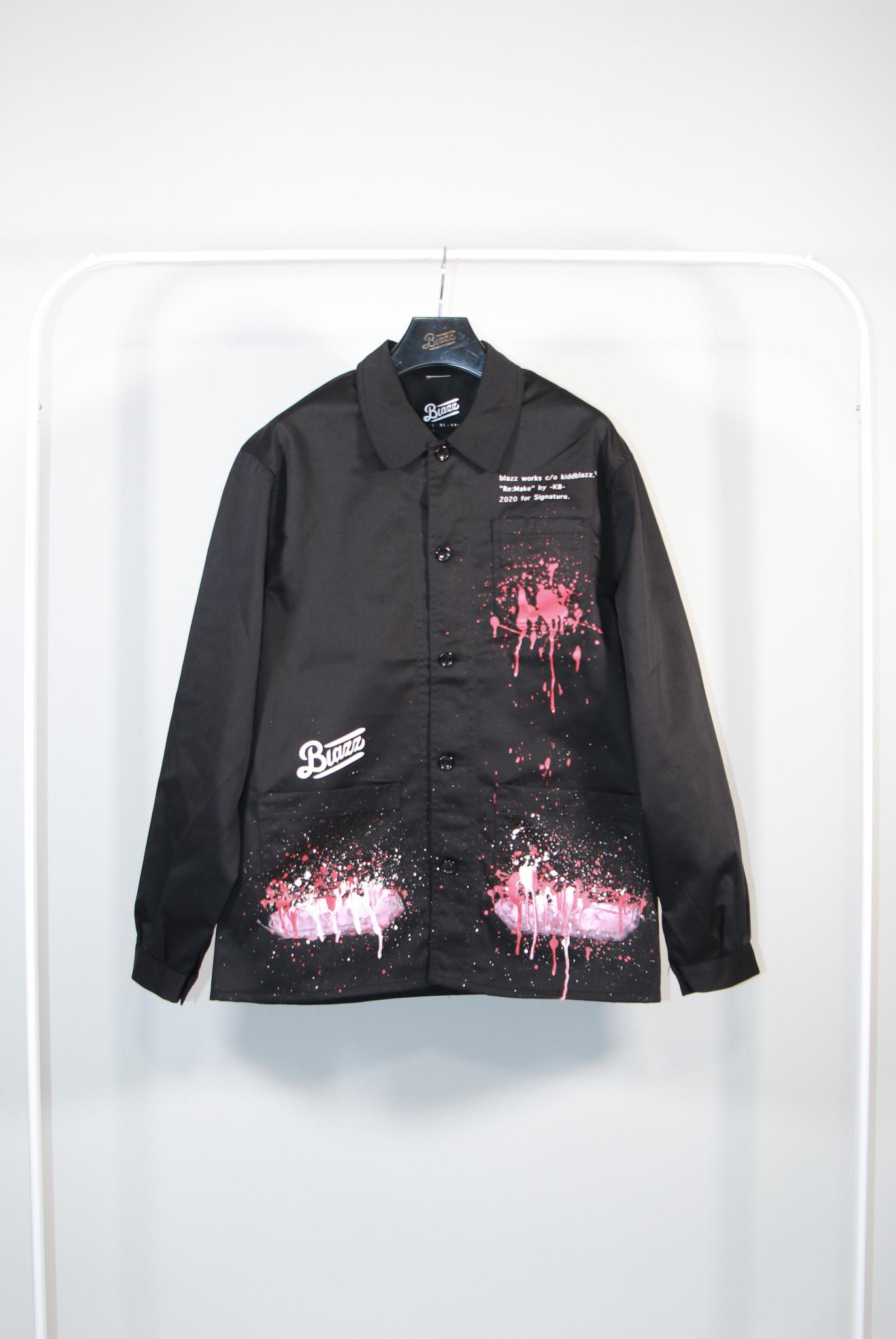 KB Paint French Work Jacket [BLACK]