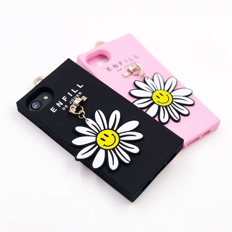"HANDING CASE with PRINTED CHARM ""SMILEY DAISY"" for iPhone8/7/6s/6"