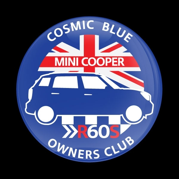 ゴーバッジ(ドーム)(CD0690 - MINI OWNERSCLUB R60S COSMIC BLUE) - 画像1