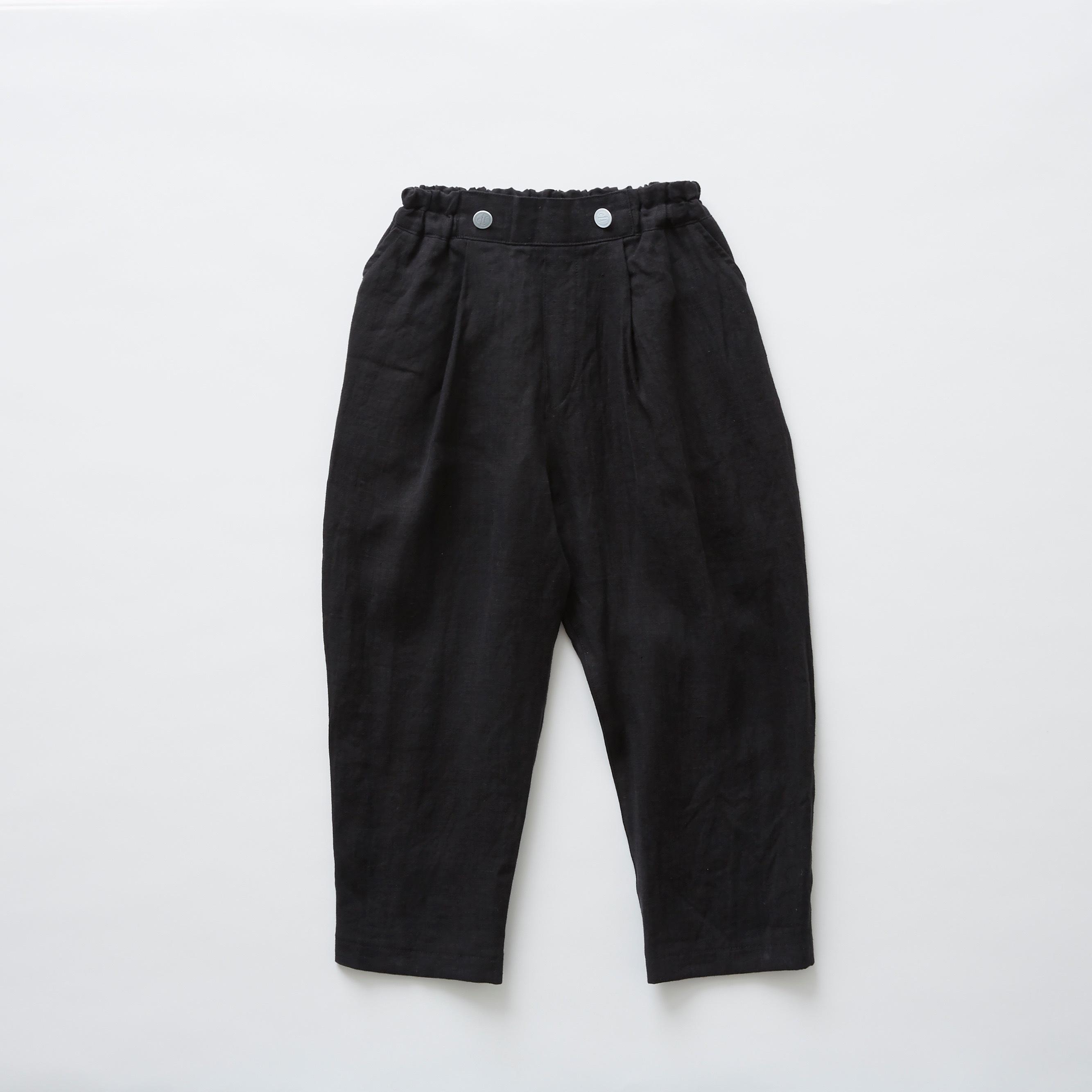 《eLfinFolk 2019SS》linen canvas pants / black / 80-100cm